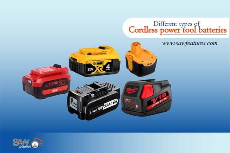 Different types of cordless power tool batteries
